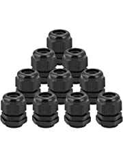 JTDEAL Cable Glands (10Pcs), Nylon Cable Glands Joints IP68 Waterproof M20 x 15 Glands 6-12mm Range Black Cable Connector for Home/Garden/Outdoor Lighting Cable