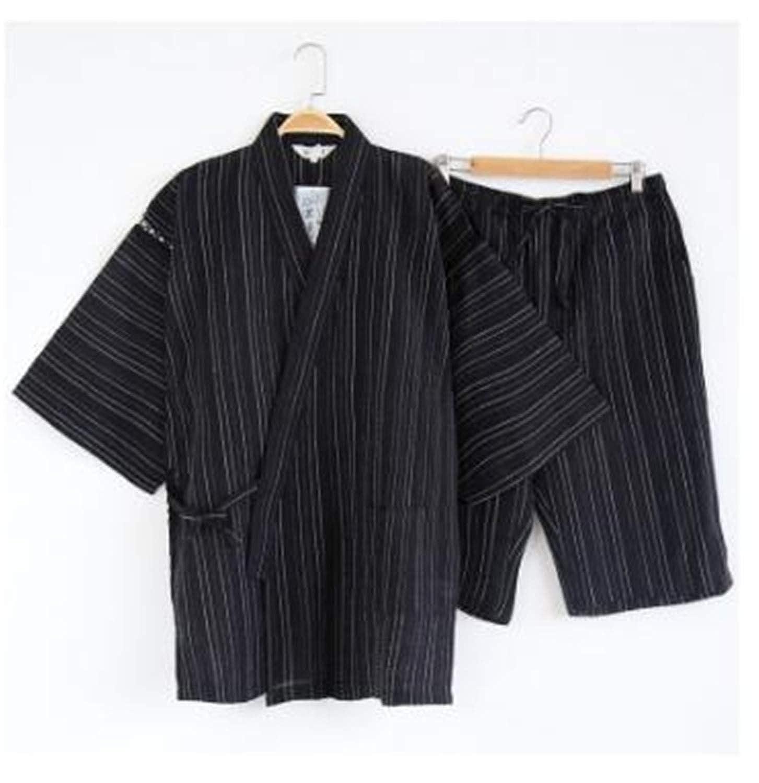 Thadensama Many Colors Japanese Kimono Pajamas Cotton Mens Pyjama House Coat S-XL