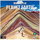 "Wonders of Planet Earth - 2021 Wall Calendars by Red Ember Press - 12"" x 24"" When Open - Thick & Sturdy Paper…"