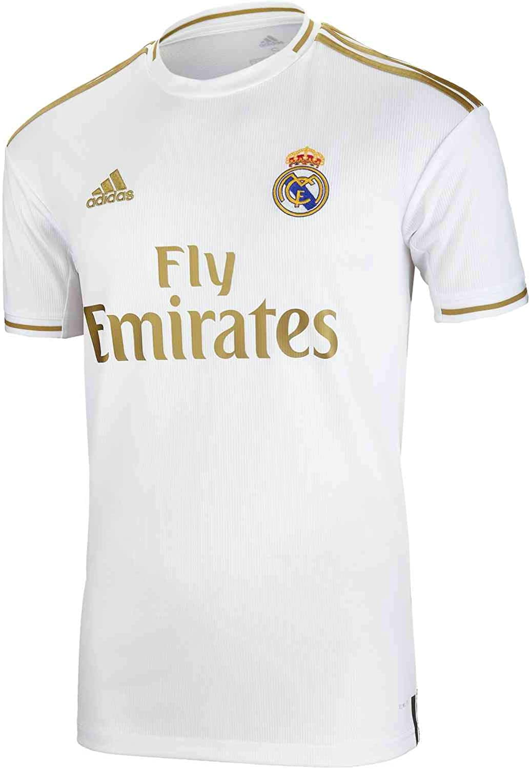 adidas Men's Soccer Real Madrid Home Jersey (X-Small) White/Gold