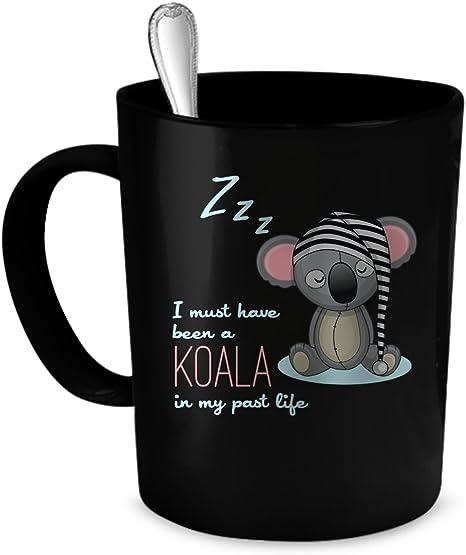 Amazon Com Koala Coffee Mug Koala Gift 11 Oz Black Kitchen Dining