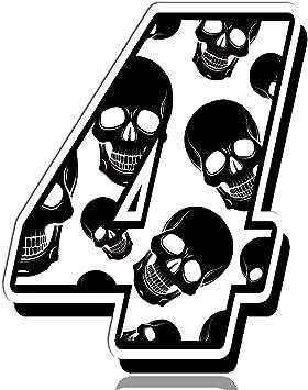 Biomar Labs Startnummer Nummern Auto Moto Vinyl Aufkleber Sticker Skull Schädel Totenkopf Motorrad Motocross Motorsport Racing Nummer Tuning 4 N 334 Auto