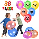 Halloween Punch Balloons - 36 PCS Neon Punching Balloons with Rubber Band Handles, Suitable for Children Gifts…