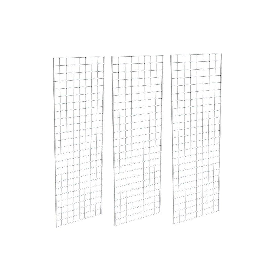 3 Pcs Box Grid Wall Display White 2 X 6 Gridwall Panels