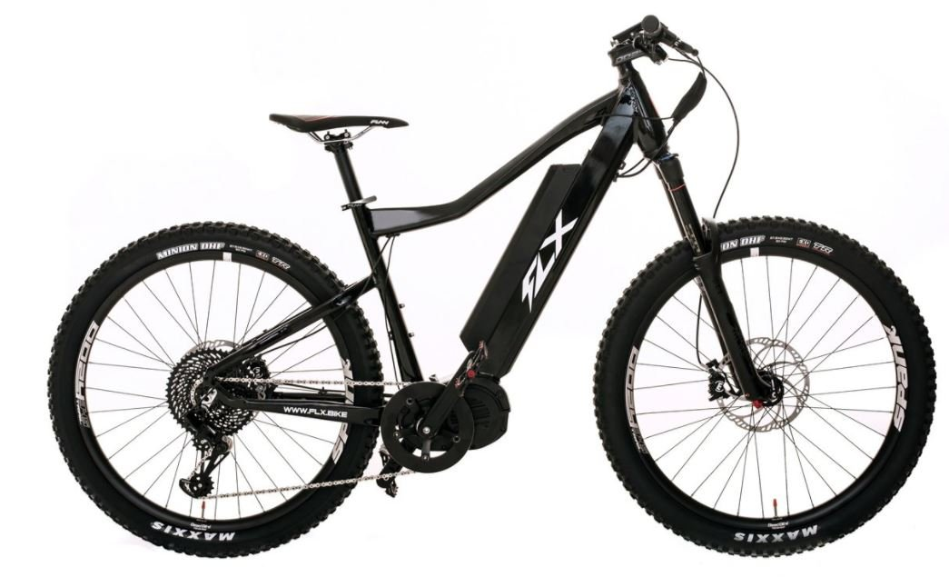 FLX Blade Electric Bicycle, Electric Mountain Bike with Suspension, Powerful Motor, Long Lasting battery, and wide Range (Gloss Black, 17.5 Ah battery): ...