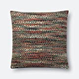 Loloi P0532 100% Cotton Pillow Cover with Polyester Fill