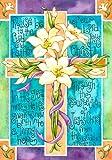 Easter Garden Welcome Flag Easter Cross