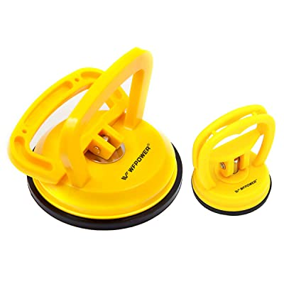 WFPOWER Yellow Suction Cup Dent Puller Handle Lifter 5inch / Dent Remover/Heavy Duty Glass Lifting Suction Cup, 2.3 inch Small Suction Cup Included: Automotive
