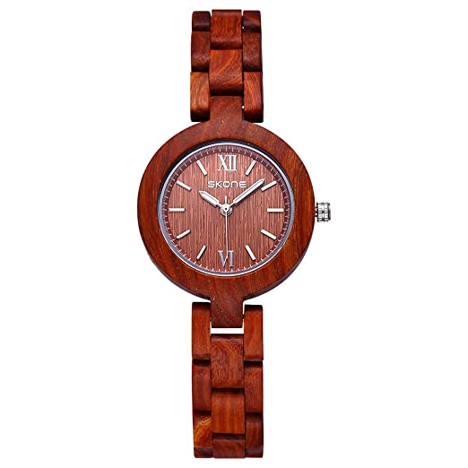JIANGYUYAN de madera reloj mujer madera reloj esfera pequeña Simple reloj de pulsera para mujer: Amazon.es: Relojes