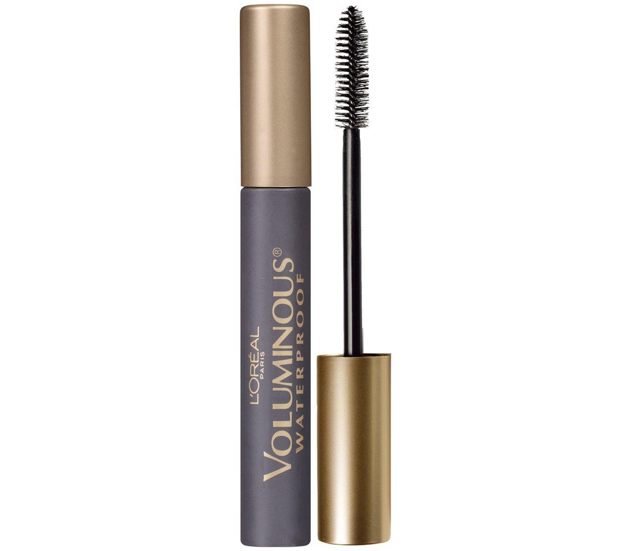L'Oreal Paris Makeup Voluminous Original Volume Building Waterproof Mascara, Black Brown, 1 Count