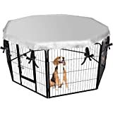 EXPAWLORER Dog Crate Cover for Outdoor and Indoor- Double Side Waterproof Windproof Shade Kennel Cover, Fits 24 Inches…