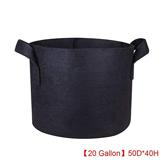 20 bolsas negras de tela no tejida para plantación de ...