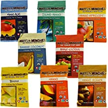 Matt's Munchies 100% USDA Organic Gluten–Free All Natural Premium Fruit Snack Variety Pack Bundle 8 Flavors Certified Kosher 8 oz Single pack