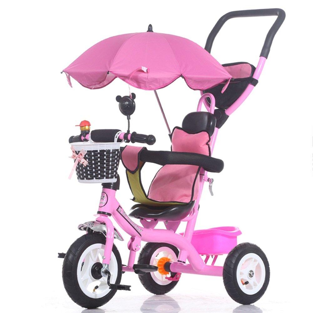 LVZAIXI 3 in 1スマートキッズ三輪車3輪マルチポジションチルドレンベビーライドオントライクバイク三輪車自転車アウト ( 色 : Pink1 ) B07BW1LJXN Pink1 Pink1