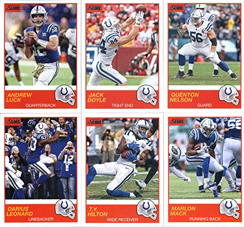 cf17c7fe3f8 2019 Panini Score Football Veteran Indianapolis Colts Team Set of 12 Cards:  Andrew Luck(#52), Marlon Mack(#53), T.Y. Hilton(#54), Darius Leonard(#55),  ...