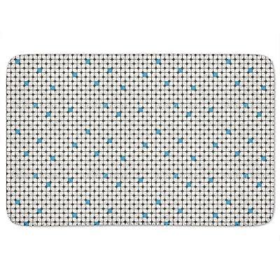 Round Checkered Bathroom Rugs Incrediby Soft Memory Foam Spa Quality