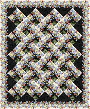 - Jackie's Animas Quilt Pattern - Chevron Wildflowers (Gives Sizes for Lap, Twin, Queen, and King)