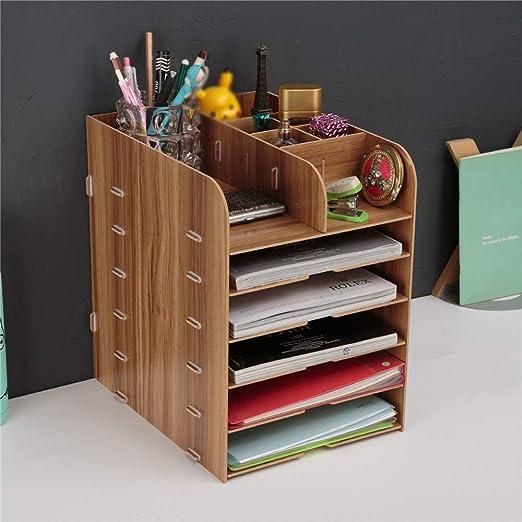 6 Clasificación de palets de madera Bastidores libro estante ...