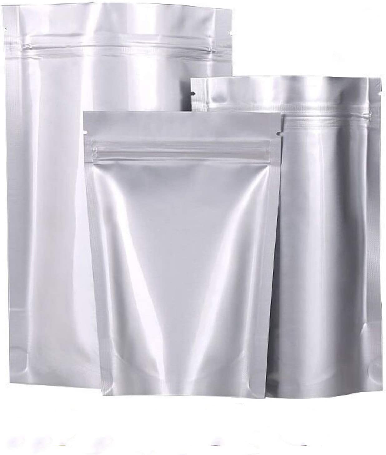 Resealable Mylar Bags 3 Sizes 30 Pack, Reclosable Foil Ziplock Bags, Upgraded Mylar Aluminum Foil Zipper Heat Seal Bags, Stand Up Food Storage Bags Pouch for Coffee Tea Beans Candy Nuts Cookies