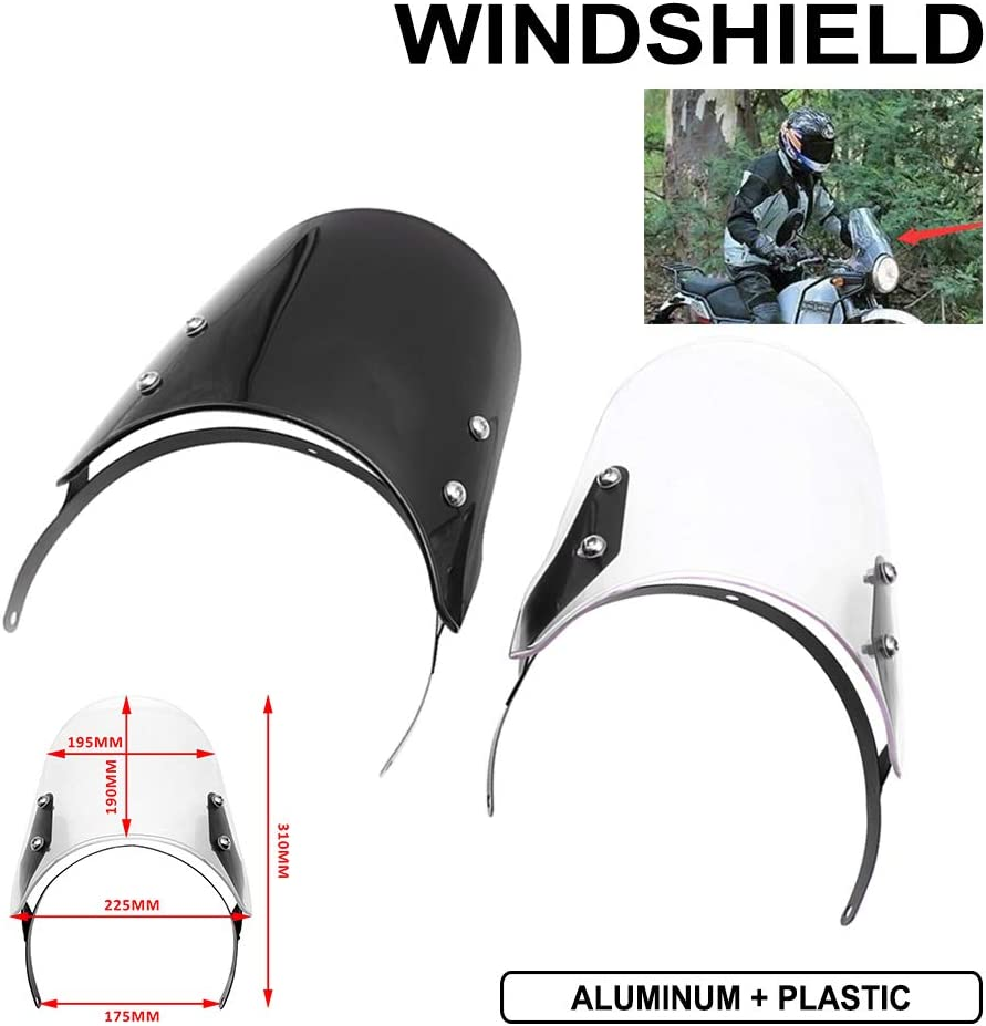 Motorcycle Headlight Fairing Windshield Windscreen For Royal Enfield Classic 500cc Clear