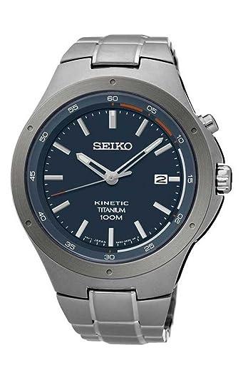 Seiko Reloj Analógico para Hombre de Kinetico con Correa en Titanio SKA711P1