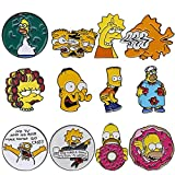 12pcs The Simpsons Homer Bart Lisa Metal Enamel Pin