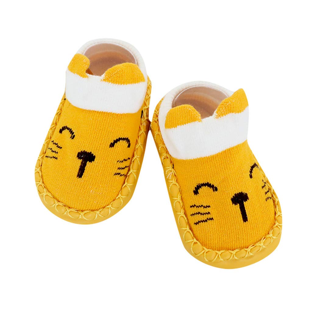 ❤️ Mealeaf ❤️ Cartoon Newborn Baby Girls Boys Anti-Slip Socks Slipper Shoes Boots(0-4Y)