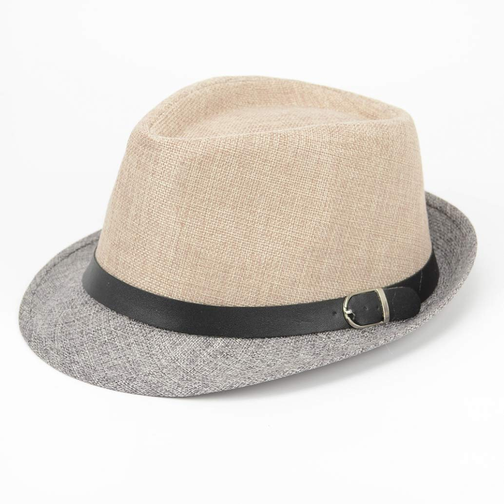 Fashion Color Block Jazz Hat Summer Panama Sun Hats for Men Women Beach Caps Sombreros Hombre Verano