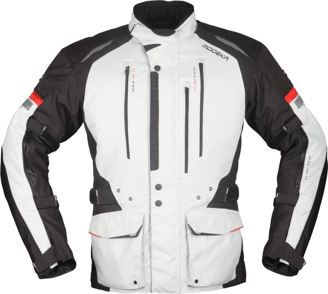 Modeka Striker II Motorrad Textiljacke Schwarz//Neon 3XL