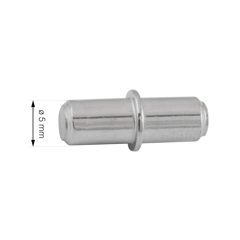 100, 5mm Regalstifte LouMaxx Bodentr/äger mit Ring f/ür Bohrung