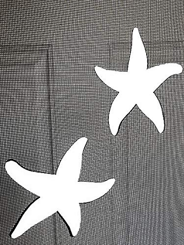 DCentral Starfish Screen Magnets: Double-Sided Decor; for Non-Retractable Screens, Multipurpose, Helps to Stop Walking into Screens, Covers Small tears in Screens, Size 5' x 4.5' ea