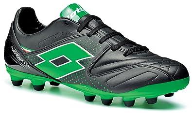 13fa2abfa Lotto Sport Mens FUERZAPURA IV 300 FG Football Shoes black metal neon green  Size