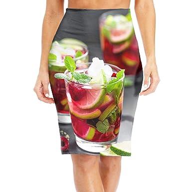 dfgjfgjdfj Raspberry Cocktail Womens Elegant High Waist Bodycon ...