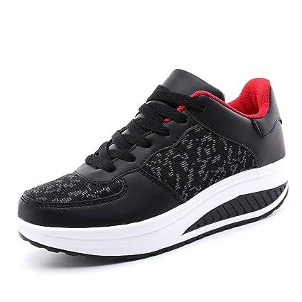 2c97b309cf9aa Amazon.com: ASO-SLING Women's Comfortable Platform Walking Sneakers ...