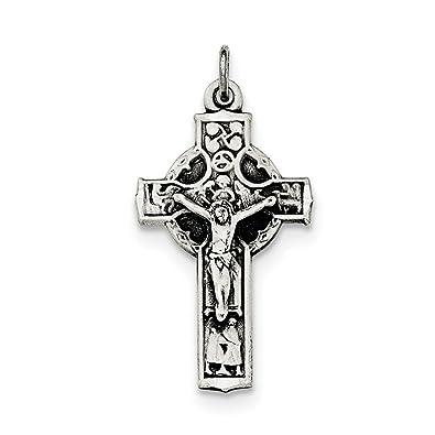Sterling Silber Antik Irische 4-Wege-Korpus Kruzifix INRI Kreuz ...