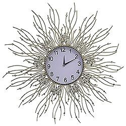 MEIDA Vintage Handmade Crystal Wall Clock (flower)3020