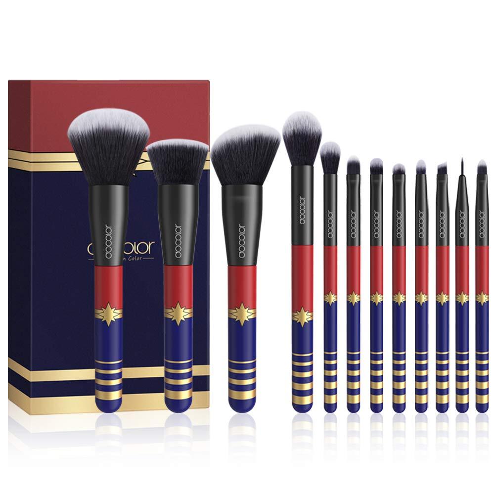 Docolor 12Pcs Makeup Brushes Starlight Goddess Makeup Brushes Set Foundation Blending Eyeshadow Kit Belle Xixi
