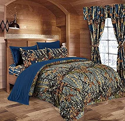 Sea Breeze THE WOODS WOODLAND CAMO FULL-QUEEN COMFORTER-FREE SHIP