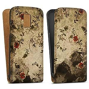 Bolsa Downflip Samsung Galaxy S5 Mini Blanco - Flower murallaconstellation