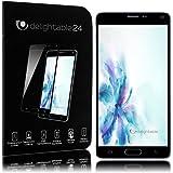delightable24 Pantalla Cristal Templado Maxima Proteccion Glass Screen Protector Cobertura 100% Completa para Samsung Galaxy Note 4 Smartphone - Transparente (Negro)