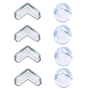 Baby Safety Corner Protectors Anti-collision Safety Bumpers Child Infant Toddler Table Protector,8pcs