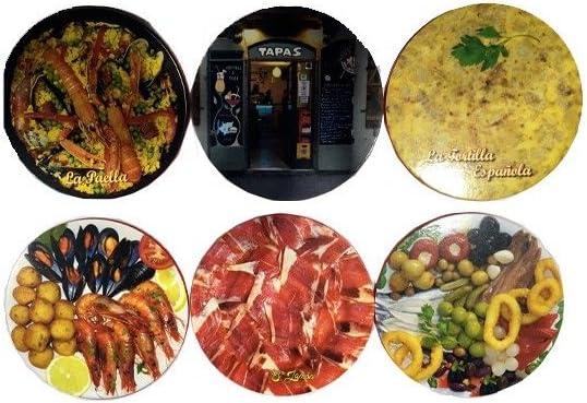 Compra ZINGS Posavasos Gastronomía de España en Amazon.es