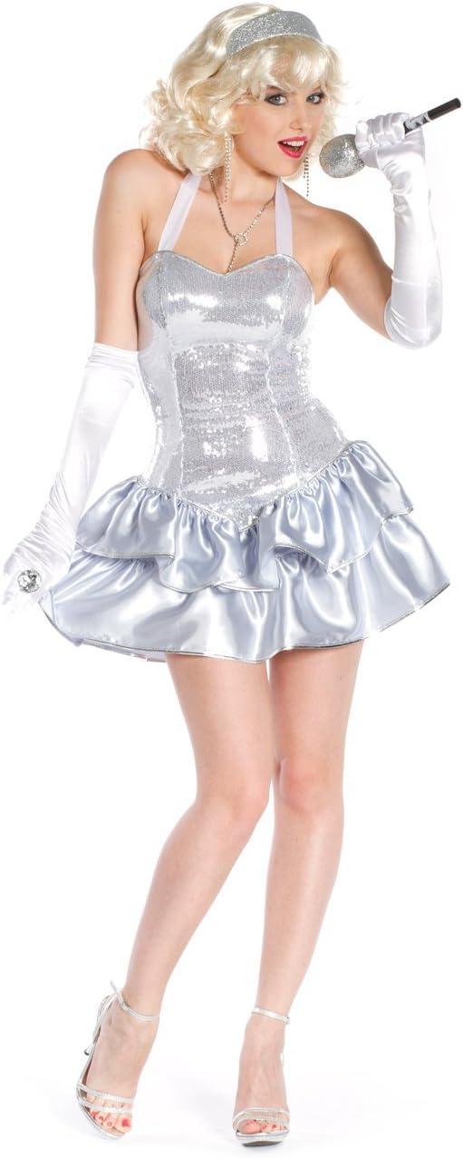 Farfouil en fête-CABARET con vestido DE falda DE satén plateado ...