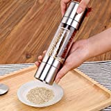 LIKEA Salt and Pepper Mill Grinder 2 in 1 Combo Stainless Steel Mill Grinder with Adjustable Coarseness And Brush for Professional Chef