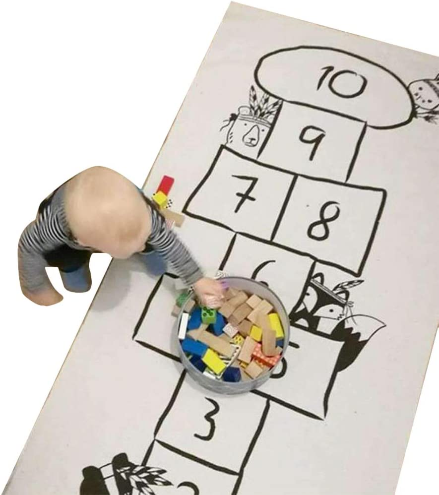 Creacom Kids Crawling Lernspiel Baby Play MAT Weicher Baumwollteppich Spielmatte wasserdichte Faltbare Spielmatte 180x70cm