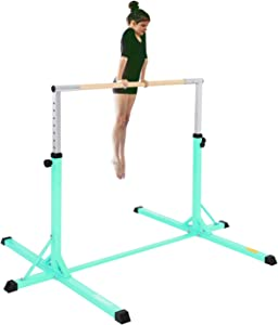 FBSPORT Gymnastics Trainning Kip Bar Expandable Horizontal Bar Adjustable Height Fitness Equipment for Home/Floor/Practice/Gymnastics/Training/Parkour