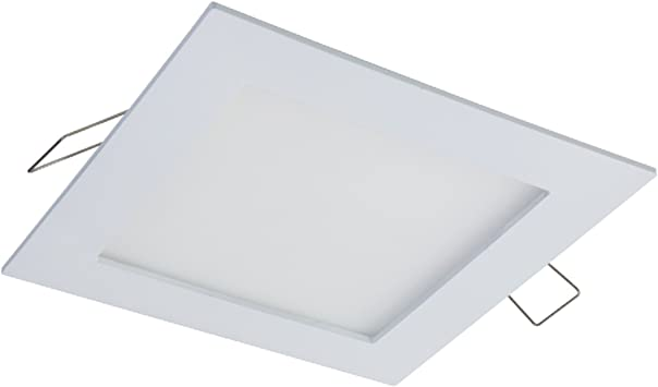 4000K Halo SMD 4 in Wht LED Square Surface Mount Ceiling Light Fixture 90 CRI