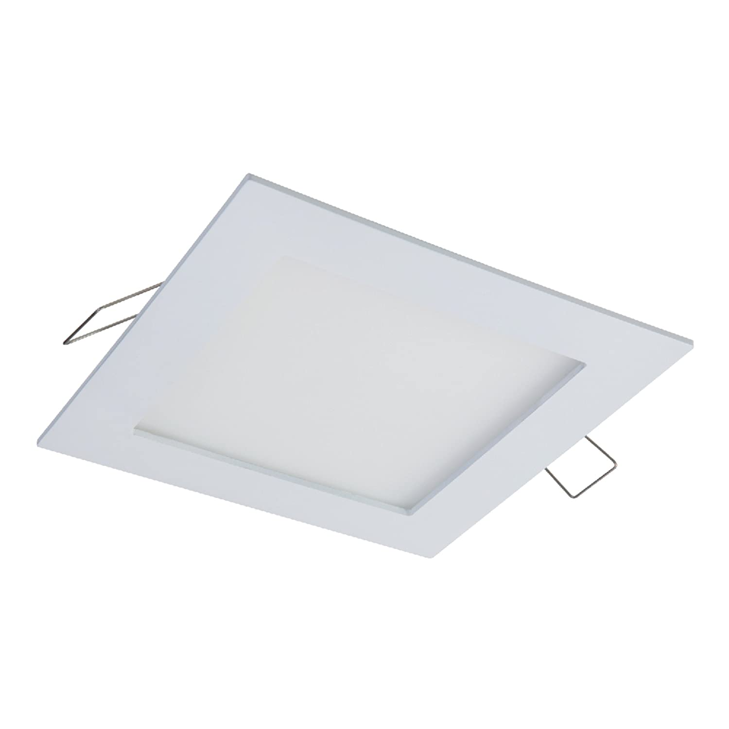 HALO SMD4R6950WHDM SMD-Dm Lens Round Integrated Led Surface Mount Recessed Downlight Trim White EATON No Can Needed 5000K Daylight, 4.85 In