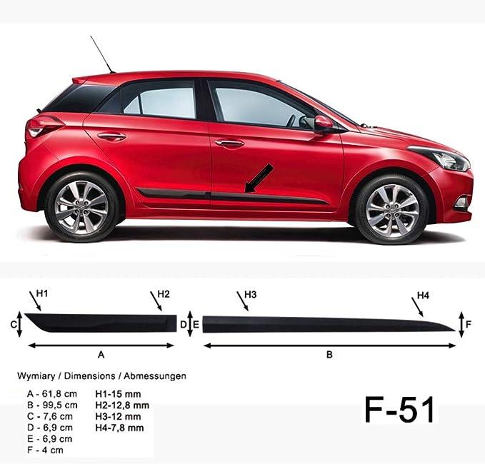 Spangenberg Listones de protección Lateral Hyundai i20 II Hatchback de 5 Puertas 2. Generación a Partir de año de construcción 11.2014- F51 (370005101)