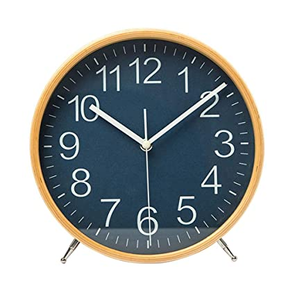 Family Fireplace Clocks Simple and Creative Table Clock Solid Wood Silent Table Clock for NI ñ
